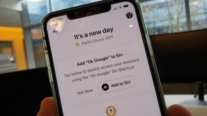 Summon Google Assistant through Siri.
