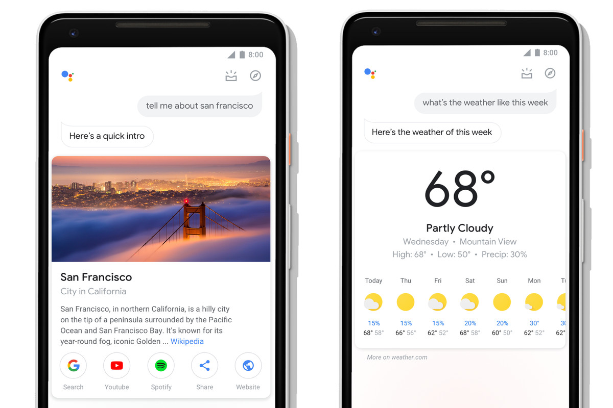 Interface updates make Google Assistant more touch-friendly and visually appealing.